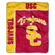 USC Trojans School Spirit Raschel Throw Blanket