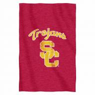 USC Trojans Script Sweatshirt Throw Blanket