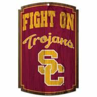 USC Trojans Wood Sign
