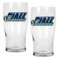 Utah Jazz 20 oz. Pub Glass - Set of 2