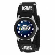 Utah Jazz Black Rookie Kids Watch