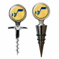 Utah Jazz Cork Screw & Wine Bottle Topper Set