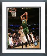 Utah Jazz Derrick Favors 2014-15 Action Framed Photo
