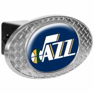 Utah Jazz Metal Diamond Plate Trailer Hitch Cover