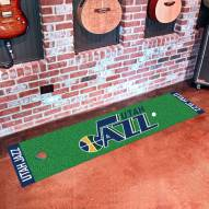 Utah Jazz Golf Putting Green Mat