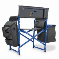 Utah Jazz Gray/Blue Fusion Folding Chair