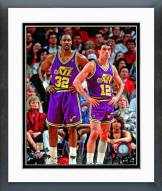 Utah Jazz Karl Malone & John Stockton 1994 Action Framed Photo