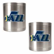 Utah Jazz NBA Stainless Steel Can Holder 2-Piece Set