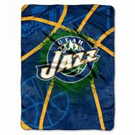 Utah Jazz Shadow Raschel Throw Blanket