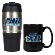 Utah Jazz Travel Tumbler & Coffee Mug Set