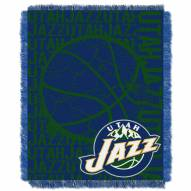 Utah Jazz Woven Jacquard Throw Blanket