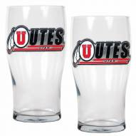 Utah Utes 20 oz. Pub Glass - Set of 2