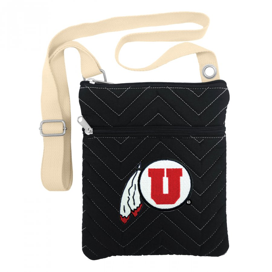 Utah Utes Chevron Stitch Crossbody Bag