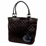 Vancouver Canucks Sport Noir Quilted Tote