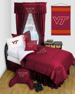 Virginia Tech Hokies Jersey Comforter & Sheet Complete Bedding Set