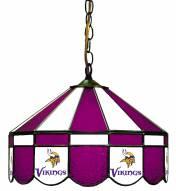 "Minnesota Vikings NFL Team 16"" Diameter Stained Glass Pub Light"