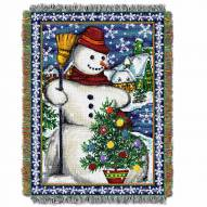 Village Snowman Throw Blanket