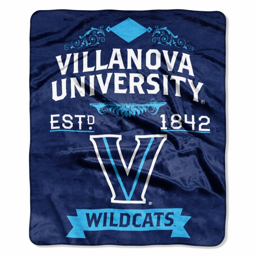 Villanova Wildcats Label Raschel Throw Blanket