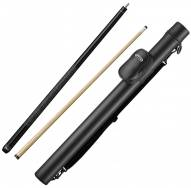 Viper Elite Wrapped Black Billiard Cue & Casemaster Supreme Q-Vault Black Cue Case Bundle