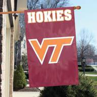 Virgina Tech Hokies NCAA Embroidered / Applique College Flag Banner