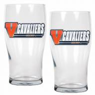 Virginia Cavaliers 20 oz. Pub Glass - Set of 2