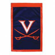 "Virginia Cavaliers 28"" x 44"" Double Sided Applique Flag"