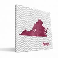 "Virginia Tech Hokies 12"""" x 12"""" Home Canvas Print"