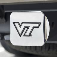 Virginia Tech Hokies Chrome Metal Hitch Cover
