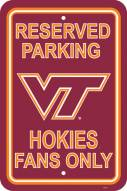 Virginia Tech Hokies College Parking Sign