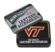 Virginia Tech Hokies Embroidered Leather Billfold Wallet