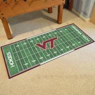 Virginia Tech Hokies Football Field Runner Rug