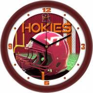 Virginia Tech Hokies Football Helmet Wall Clock