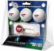 Virginia Tech Hokies Golf Ball Gift Pack with Cap Tool