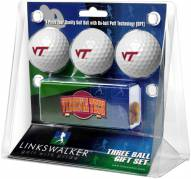 Virginia Tech Hokies Golf Ball Gift Pack with Slider Clip