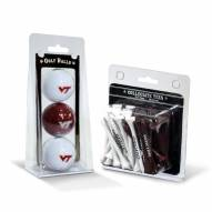 Virginia Tech Hokies Golf Ball & Tee Pack
