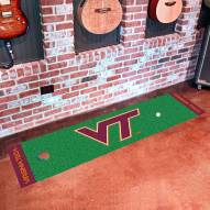 Virginia Tech Hokies Golf Putting Green Mat