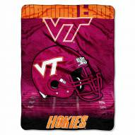 Virginia Tech Hokies Micro Raschel Overtime Blanket