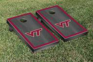 Virginia Tech Hokies Onyx Stained Border Cornhole Game Set