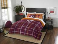 Virginia Tech Hokies Plaid Full Comforter Set