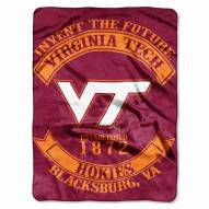 Virginia Tech Hokies Rebel Raschel Throw Blanket