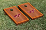 Virginia Tech Hokies Rosewood Stained Border Cornhole Game Set