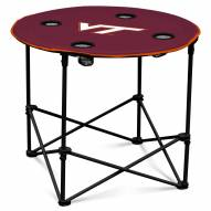 Virginia Tech Hokies Round Folding Table