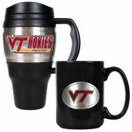 Virginia Tech Hokies Travel Mug & Coffee Mug Set