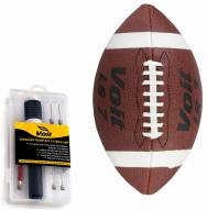 Voit Junior Synthetic Sponge Football with Ultimate Inflating Kit