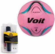 Voit Player Soccer Ball with Ultimate Inflating Kit