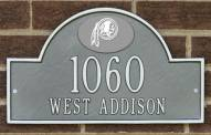 Washington Redskins NFL Personalized Address Plaque - Pewter Silver