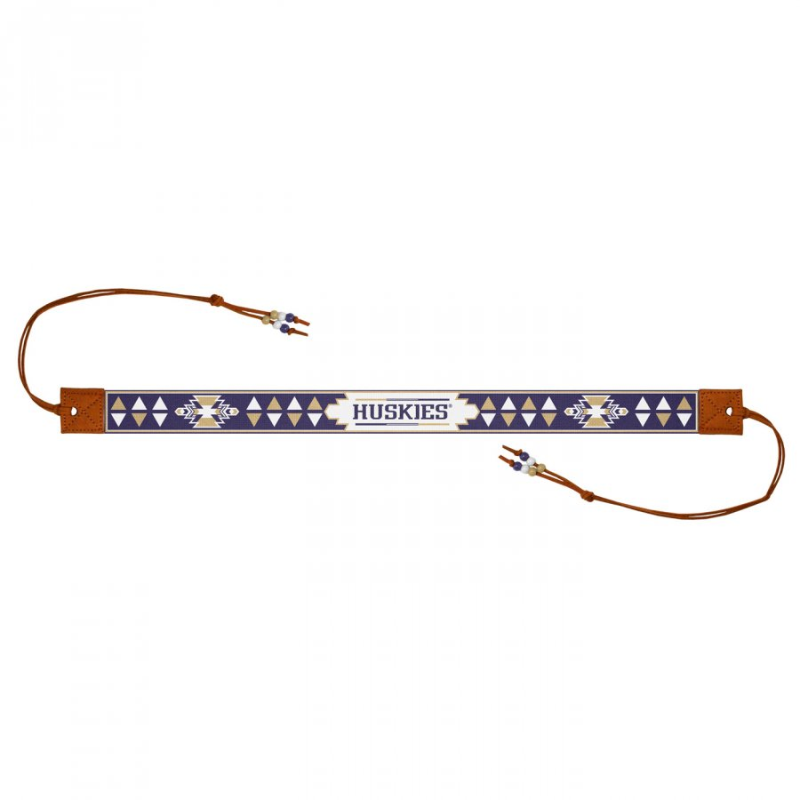 Washington Huskies Beaded Headwrap