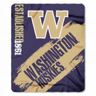 Washington Huskies Painted Fleece Blanket