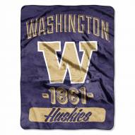 Washington Huskies Varsity Micro Raschel Blanket