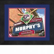 Washington Nationals 13 x 16 Personalized Framed Sports Pub Print